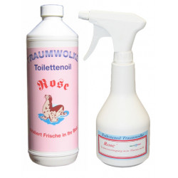 Multi-Star Toilettenoil Rose Set 1 Liter mit Sprayflasche